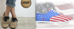 Study footwear NEW style! leopard & the flag