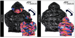 metal candy camo puffer jacket by JOYRICH
